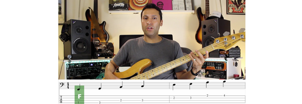 Reading Music On The Bass Guitar: The Very Basics - Note Names And Locations
