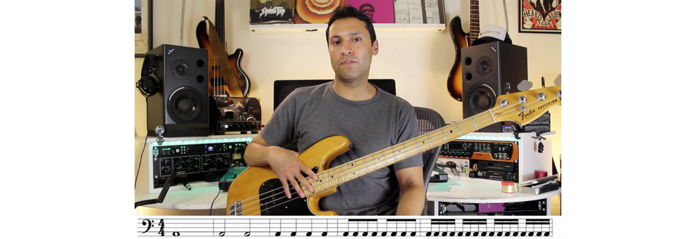Reading Music On The Bass Guitar: The Very Basics - Rhythms And Rests