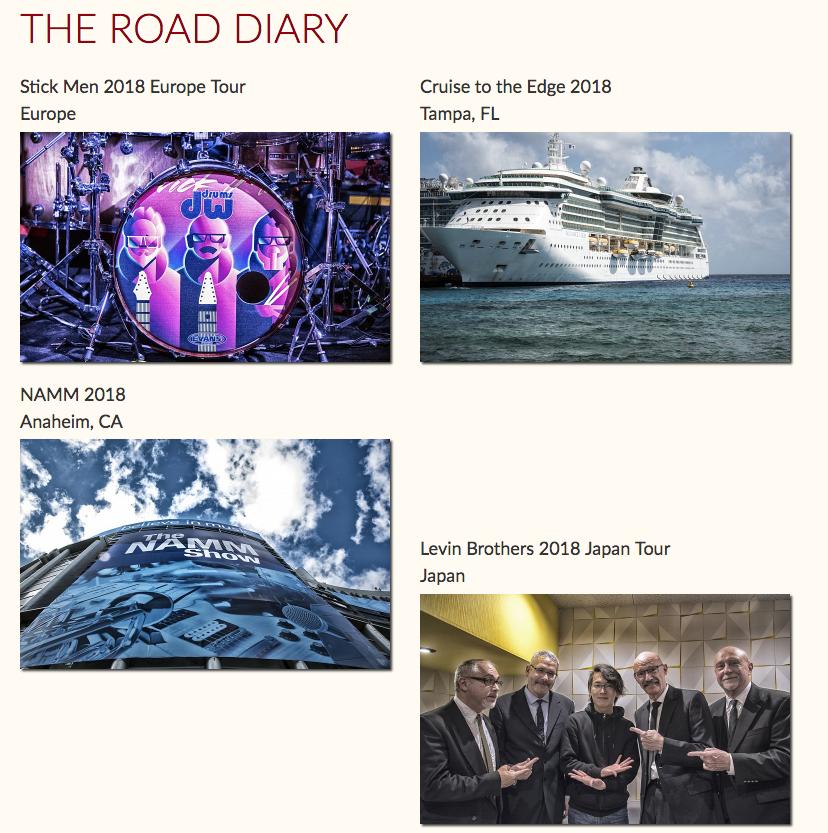 Tony Levin Road diary