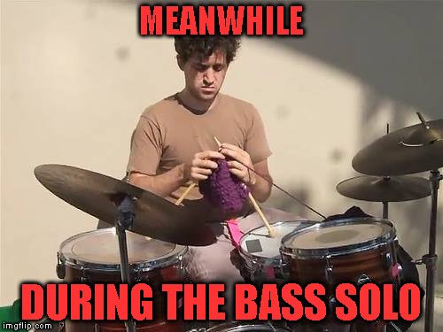 Meanwhile during the bass solo