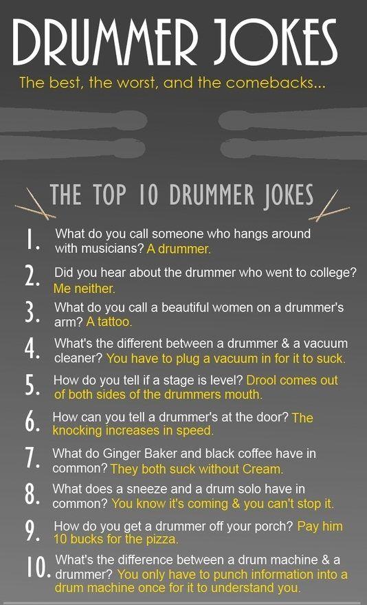 The Top 10 Drummer Jokes