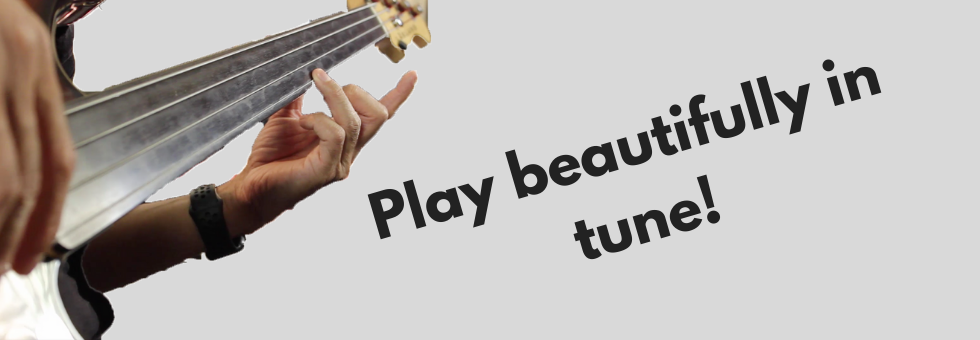 Three Exercises For Fretless Bass Guitar - Play In Tune!