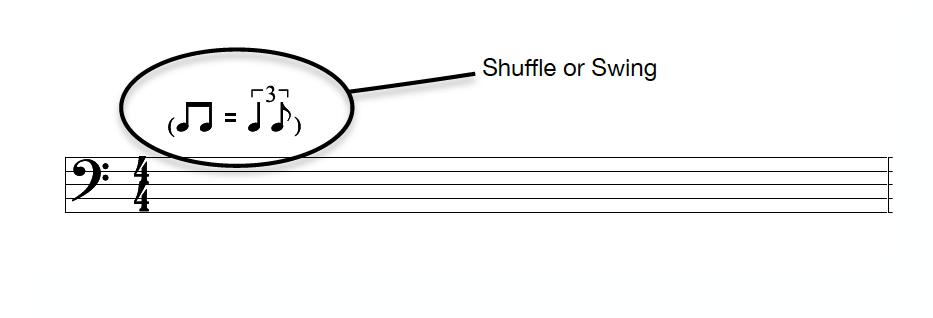 Shuffle or Swing Rhythm:Feel