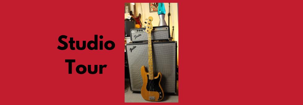 Studio Tour- (For Remote Bass Guitar Recording)