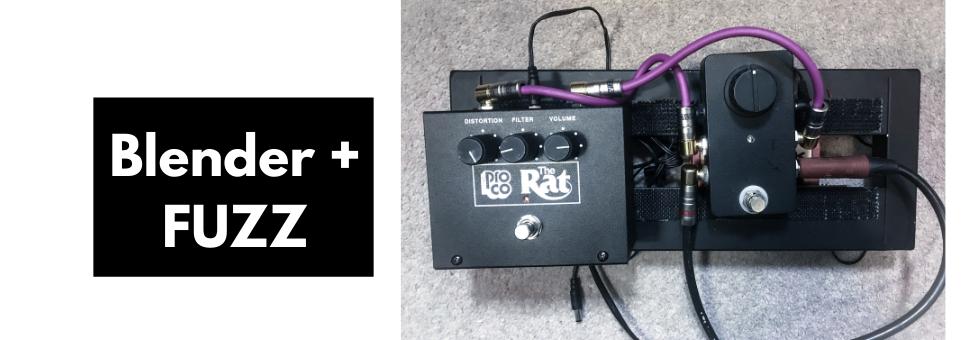 Blender Pedal On Bass Guitar (With A Rat Fuzz Pedal)