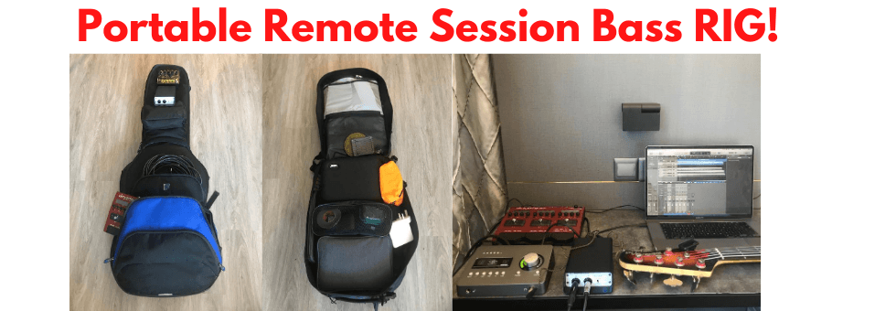 Totally Portable Remote Session Bass Guitar Rig
