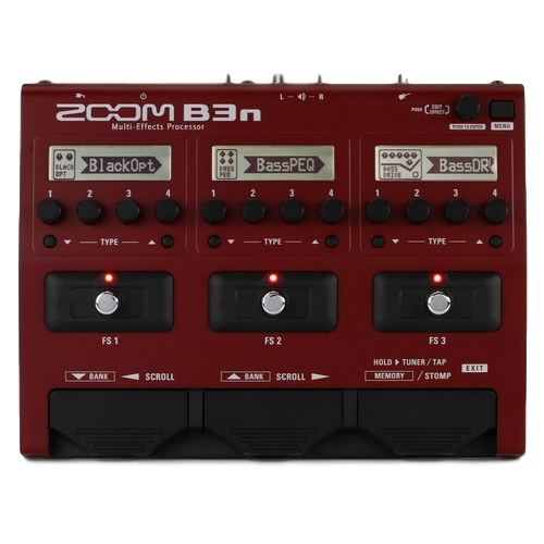 Great Bass Guitar Effects Pedal Zoom B3N - 12 famous tones from one pedal