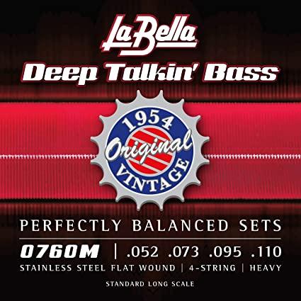 LaBella Deep Talkin' flatwound bass strings
